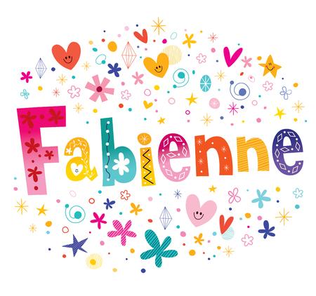 Fabienne French Feminine Given Name Stock Illustratie