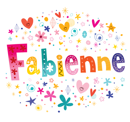 Fabienne French Feminine Given Name Illustration