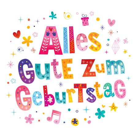 Alles Gute zum Geburtstag Deutsch German Gelukkige verjaardag wenskaart