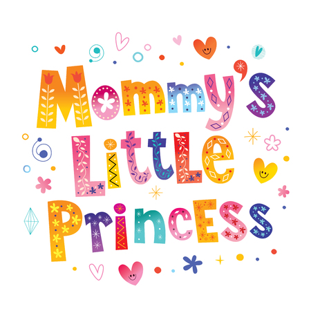 Mevrouw, kleine prinses Stock Illustratie