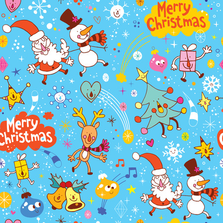 Merry Christmas holiday seamless pattern