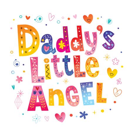 Piccolo angelo del papà Archivio Fotografico - 77998759