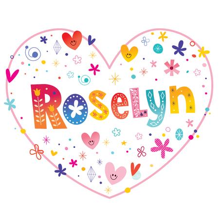 ロザリン女の子名前装飾レタリング ハート愛設計