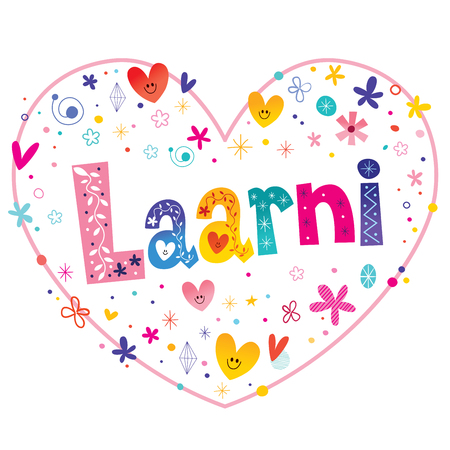 Laarni 女の子名前装飾レタリング ハート愛設計