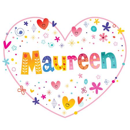 モーリーン女性指定した名前装飾レタリング心形愛設計