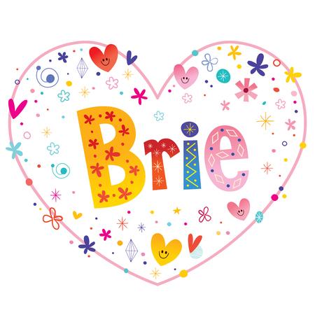 ブリーの女の子名前装飾レタリング ハート愛設計