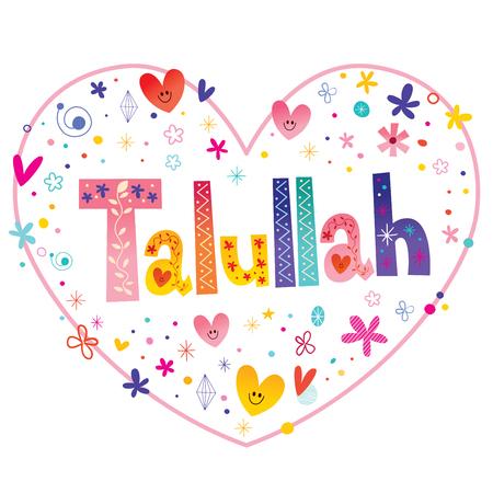 Talullah 女性指定した名前装飾レタリング心形愛設計