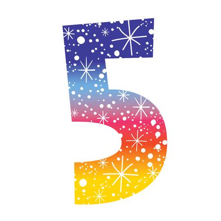 celebratory: Celebratory number five for birthdays anniversaries celebrations