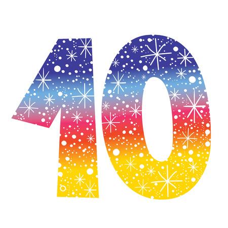 celebratory number ten for birthdays anniversaries celebrations
