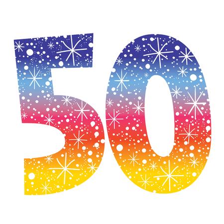 誕生日記念日のお祝いお祝い数 50 写真素材 - 78457643