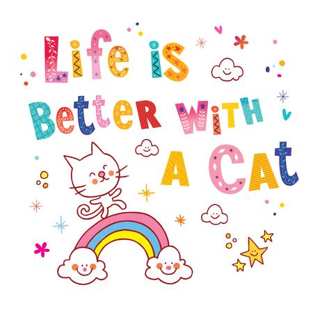Het leven is beter met een kat
