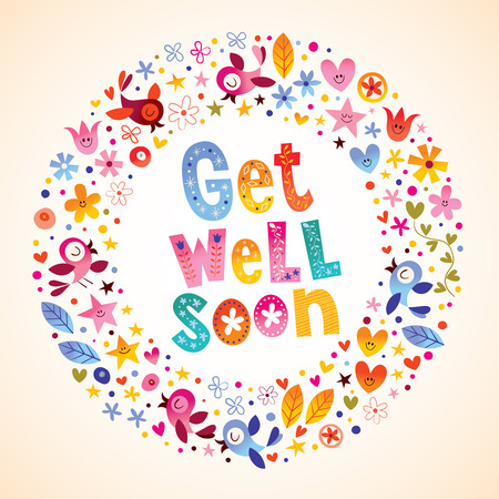 get well soon card Ilustrace