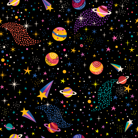 Space cosmos seamless pattern.