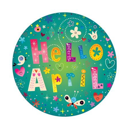 Hallo April-kaart