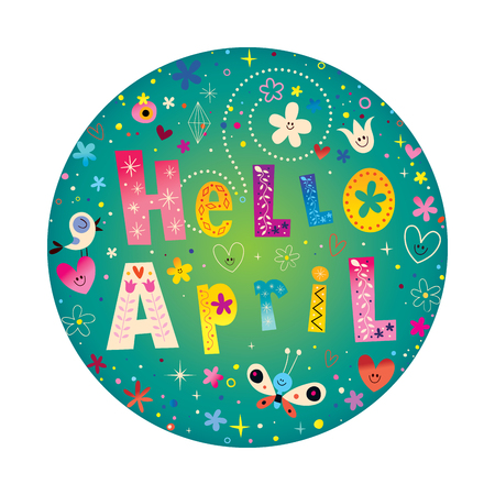 Hello April card