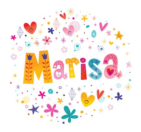 魔理沙の女の子名前装飾レタリング型デザイン