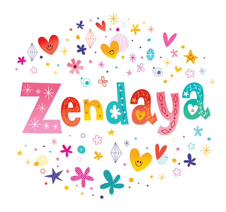Zendaya の女の子名前装飾レタリング型デザイン