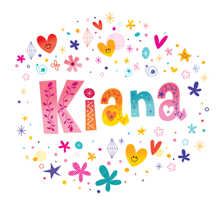 Kiana-meisjes noemen een decoratief lettertype