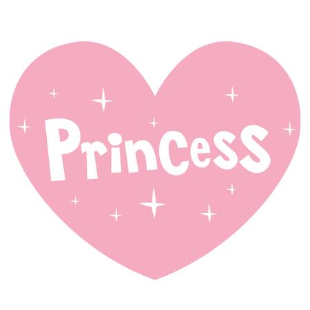 princess roze hartvormige letters ontwerp