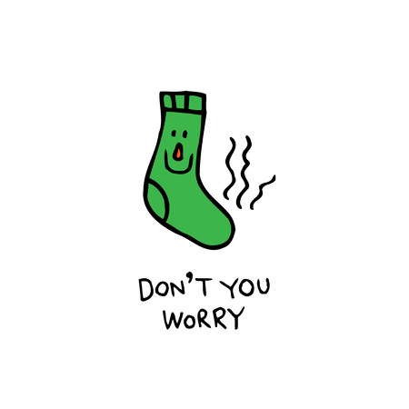 dont you worry - smelly sock character