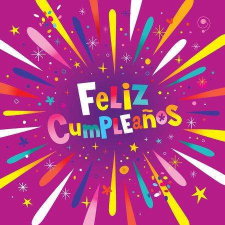 Cumpleanos Van Feliz Gelukkige Verjaardag In Het Spaans Kids Card