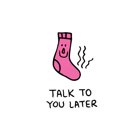 talk to you later Illustration