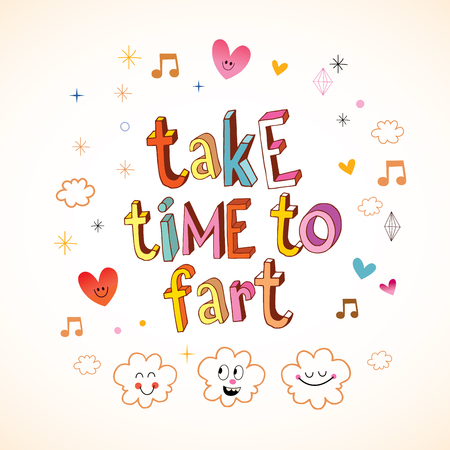 take time to fart Stock fotó - 80563469