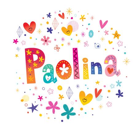 パオリーナ女の子名  イラスト・ベクター素材