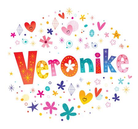 Veronike の女の子の名前  イラスト・ベクター素材