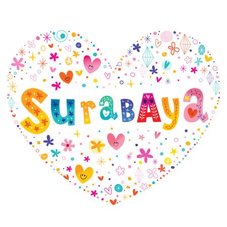 Surabaya city in Indonesia