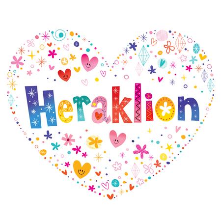 Heraklion city in Greece Illusztráció