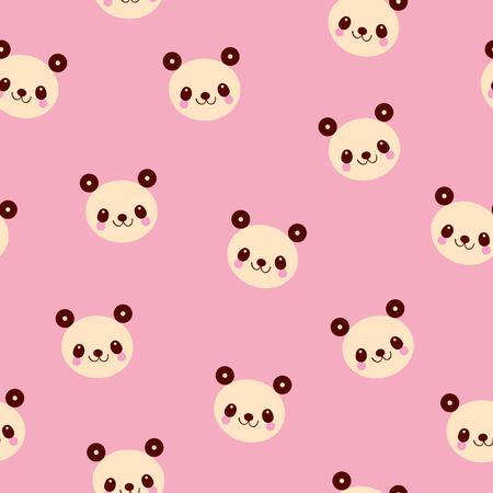 귀여운 팬더 곰 원활한 패턴