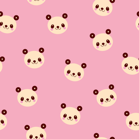 cute panda bears seamless pattern Иллюстрация