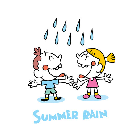 summer rain Illustration
