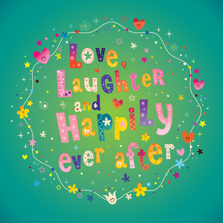 사랑 웃음과 행복