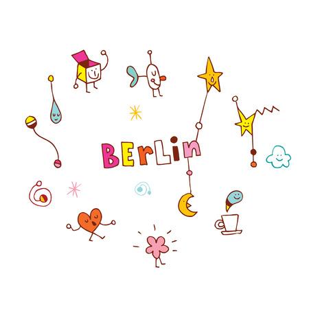 Berlin logo like  illustration.