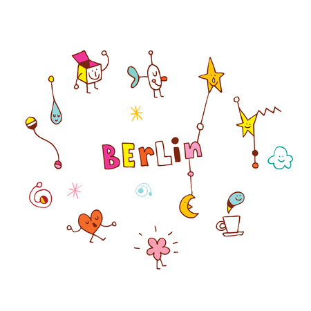 Berlin logo like  illustration.