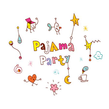 pajama party Illusztráció