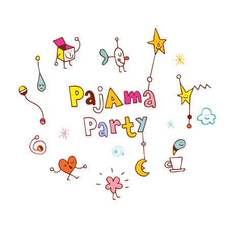 pajama party Illustration