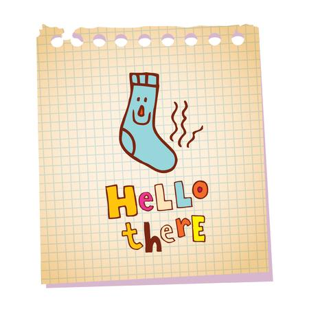 hallo daar notitieblok papier bericht