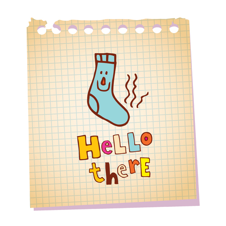 hello there notepad paper message Illustration