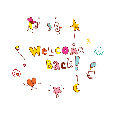 Willkommen zurück Standard-Bild - 83462910