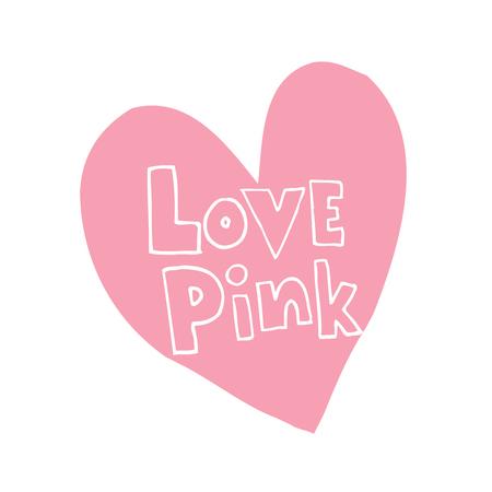 사랑 핑크 하트 모양의 디자인 손으로 그림을 디자인합니다. 일러스트