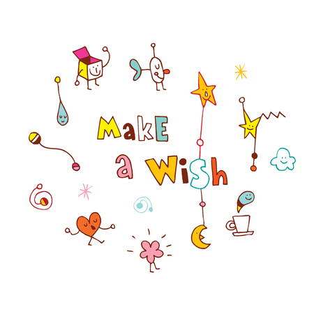 Make a wish illustration.