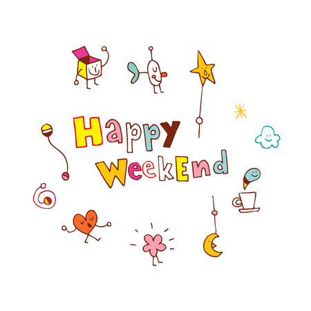 Happy Weekend 向量圖像