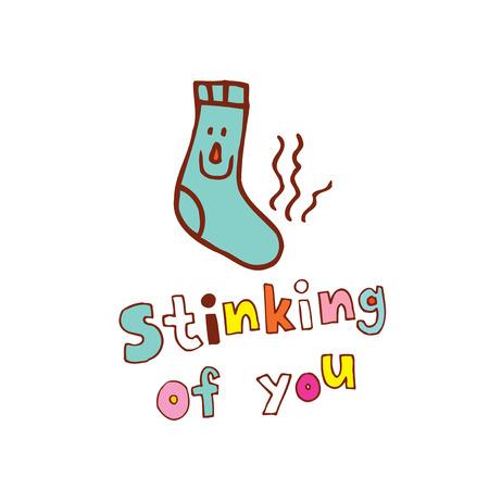De illustratie van 'stinkende van jou'