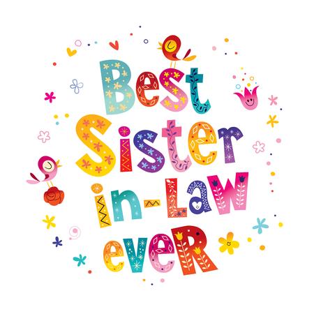 Best sister in law ever Stock fotó - 84144064