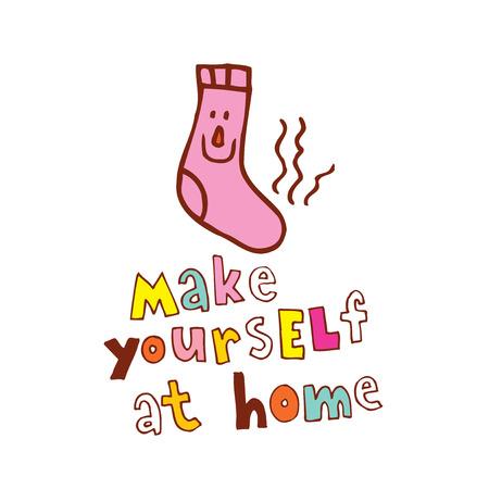 '집에 모셔라'는 삽화