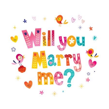너 나 타이 포 그래피 결혼 결혼식 디자인 글자 결혼 해 줄래?