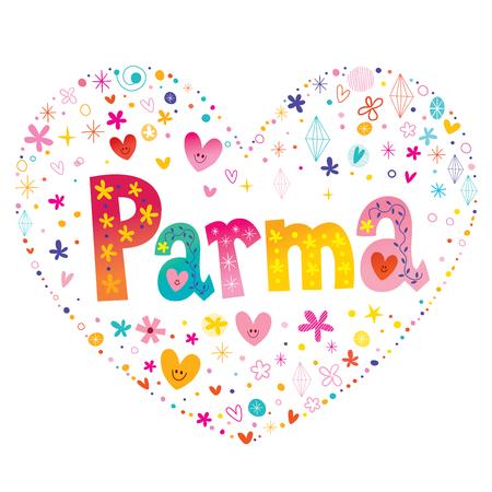 Parma city in Italy Illusztráció